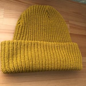 Plain Mustard Yellow Knitted Beanie